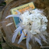 Custom Tinted Wizard of Oz Book Pages Paper Flower Bouquet-White