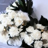 Black and White Paper Flower Bouquet