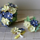 Blue and Yellow Atlas Page Flower Bouquet
