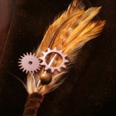 Gear and Sprocket Boutonniere Corsage, Steampunk