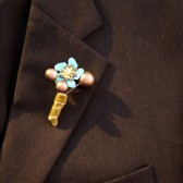 Small Blue Flower Boutonniere
