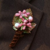 Pink Small Flower Boutonniere