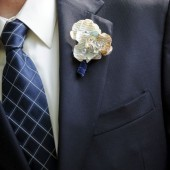 Paper Map Flower Boutonniere