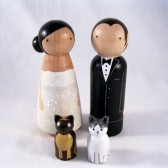 Bride and Groom with 2 pets