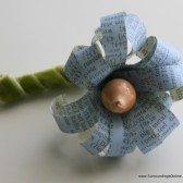 Blue Paper Story Flower Boutonniere