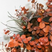 Burnt Orange Bridal Bouquet with Copper and Cognac - Natural Dried Flowers