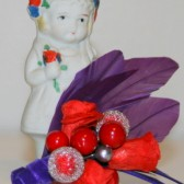 Red and Purple Rose Corsage