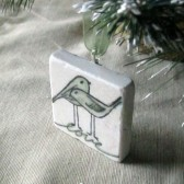 Love Bird Ornament Wedding Favor