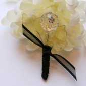 Crystal Flower Boutonniere - Contemporary Elegance