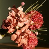 Pink and Coral Encyclopedia Bouquet - Vintage Encyclopedia Paper and Dried Flowers