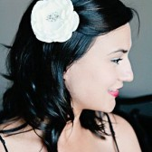 Creamy Ivory Floral Hair Fascinator with Vintage Jewelry