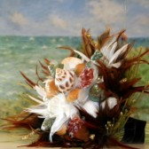 Feather and Shells Beach Wedding Bouquet