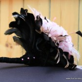Black and Pale Pink Feather Bouquet