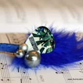 The Beatles Blue Feather Boutonniere