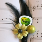Yellow Flower Beatles Guitar Pick Boutonniere