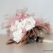 Black, Pink and White Paper Flower Bouquet and Leopard Accents