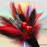 Rock and Roll Feather Boutonniere
