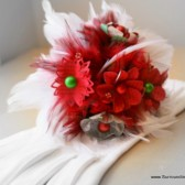 Red, Green and White Paper Flower Bouquet