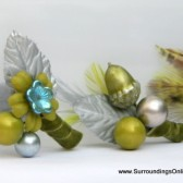 Green and Silver Boutonniere