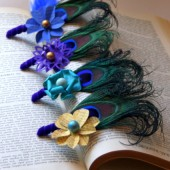 Peacock Encyclopedia Flower Boutonniere, Handmade and Unique