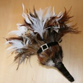 Natural Brown and White Feather Bouquet