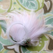 Pale Pink Feathered Corsage
