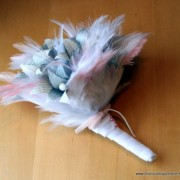 Pale Pink and Blue Feather Bouquet