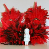 Red and Brown Feather Bouquet