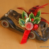 Holly Berry Holiday Boutonniere