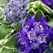 Purple and Grey Feather Bouquet