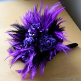 Royal Purple and Black Feather Bouquet