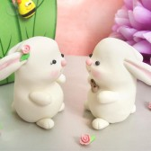 Bunny wedding cake toppers - customized