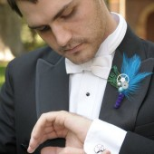 Blue Gear Boutonniere