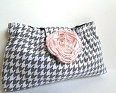gray and pink clutch