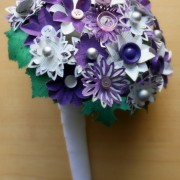 Royal Purple and Lilac Paper Flower Bouquet