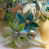 Aqua and Apple Map and Atlas Boutonniere