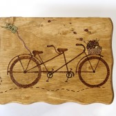 Bike Lover's Woodburned Tandem