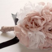 Peony fabric flower bouquet