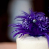 Purple Feather Cake Topper