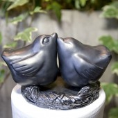 Pewter Bird Cake Topper