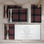 Plaid Wedding Invitation Suite