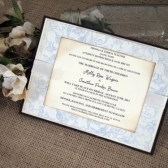 Wedding Invitation Blue Vine
