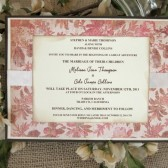 Red Ivory Wedding Invitation Rustic