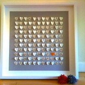 3D Hearts Wedding Guest Book