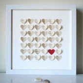 Personalized Wedding Gift 3D Song Hearts