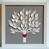 3d Song Tree Wedding Gift gray and white