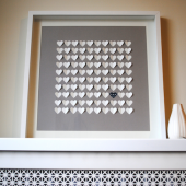 3d Wedding Hearts Guest Book
