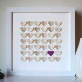 Bridesmaid Gift 3D Song Heart Art