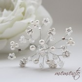 Wendy Swarovski Pears, Crystals and Rhinestones Bridal Hair pins by Mauve Binchely / Wedding Hair Accessories / Bridal Hair Jewelry