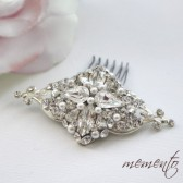 Fay Swarovski Elements Hair Comb by Mauve Binchely / So classic and elegant / Vintage look / Available as Headband and Boooch